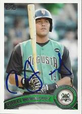 Chris Dominguez 2011 Topps Pro Debut Signed Card