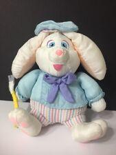 "Plush Painter Bunny Rabbit Stuffed Animal Paint Brush Artist 8"" Easter Parachute"
