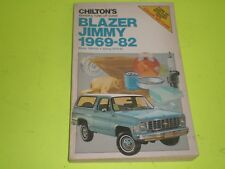 1969-1982 CHEVY BLAZER GMC JIMMY CHILTON'S SERVICE SHOP REPAIR MANUAL NOS