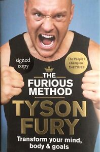 TYSON FURY AUTHENTIC SIGNED HARDBACK BOOK THE FUROUS METHOD AFTAL#198