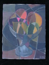 RARE LISTED ARTIST painting ABSTRACT modernist CUBISM fine art Dr BENJAMIN Gross