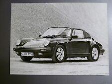 "1981 Porsche 911 Carrera Targa B&W Press Factory Issued ""Werkfoto"" Photo RARE!!"