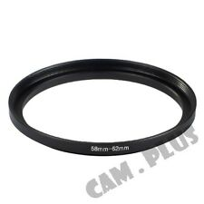 58-62mm Step-Up Metal Lens Adapter Filter Ring / 58mm Lens to 62mm Accessory