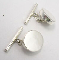 ".925 Solid Silver EXTRA ORDINARY New Cufflinks 0.6"" 7.0 Grams ONE OF A KIND"