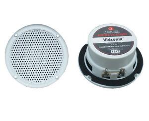 "3"" Boat Spa Shower Marine Audio Speaker PAIR WHT VX-S30W2 RV ATV Motorcycle NEW"