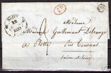 France 1839 folded letter NUITS over TOURNUS to PLOTTE