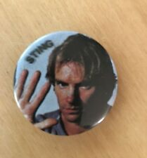 THE POLICE STING VINTAGE 1983 PIN PINBACK BUTTON BADGE