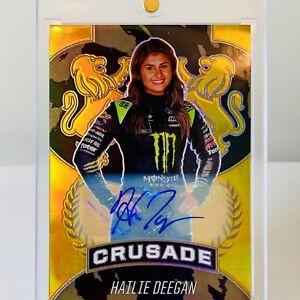 HAILIE DEEGAN 2021 Chronicles Crusade Racing AUTO - GOLD HOLO # /10🔥RARE NASCAR