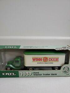 ERTL 1937 FORD TRACTOR TRAILER BANK WINN DIXIE NEW NIB