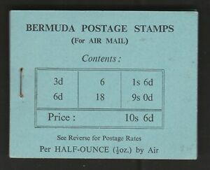 Bermuda 1948 10s 6d Complete booklet (stapled left) SB2.