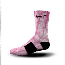 Custom Nike Elite Socks All Sizes PINK SPLATTER BOLT