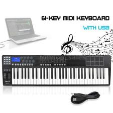 New PANDA61 61-Key USB MIDI Keyboard Controller 8 Drum Pads with USB Cable USA