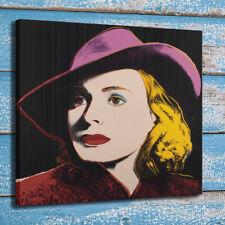 HD Art Andy Warhol Ingrid Bergman Painting Room Wall Decor Print Canvas 24x24