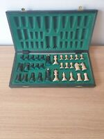 """Handmade Wooden Chess Set with 16"""" Board and Hand Carved chess Pieces."""