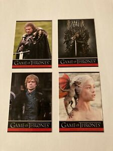 2012 Game Of Thrones Season One Promos Complete 4 Card Set