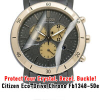 For Citizen Eco-drive Chrono HD Clear Crystal Protection  Crystal, Bezel, Buckle
