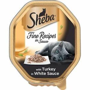 22 X 85G Sheba Fin Recettes Chat Nourriture Plateau Avec Dinde En Sauce