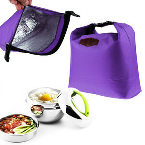 Waterproof Portable Lunch Box Thermal Cooler Insulated Tote Storage Picnic Bags