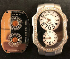 Philip Stein Signature Stainless Steel Diamond Teslar Watch *NO BAND SEE PHOTOS*
