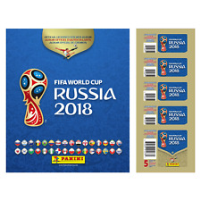 2018 PANINI WORLD CUP STARTER PACK HARD COVER ALBUM + 5 PACK TOTAL OF 25 STICKER