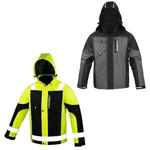 Arbeitsjacke Winterjacke Schutzjacke Winter Jacke Regenjacke Wasserabweisend NEU