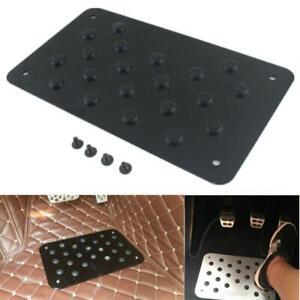 Car Floor Mat Aluminum Foot Heel Carpet Pedal Scuff Plate Nonslip 2mm Universal