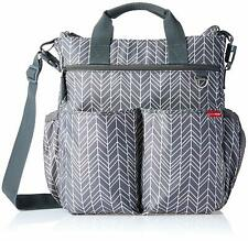 Skip Hop Duo Diaper Bag - Gray Feather - Messanger Bag