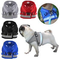 Breathable Small Dog Mesh harness Vest Collar soft chest strap Leash set XS-L