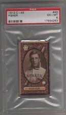1912 C46 Imperial Tobacco Baseball Card #43 Robert Fisher Newark Indians PSA 6
