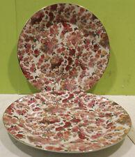 2x Papiro Plato dm.30, 5cm Papiro porcelana, Flores + Ángel/ ANGELOTE deco