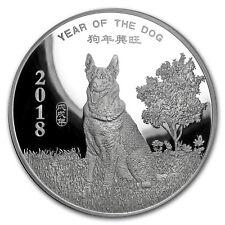 10 oz Silver Round - APMEX (2018 Year of the Dog) - SKU#152698