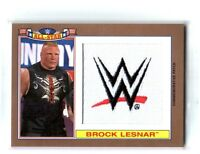 WWE Brock Lesnar 2016 Topps Heritage Bronze AS Patch Relic Card SN 30 of 99