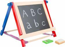 Tafel Set mit Kreide und Schwamm Lernspielzeug Kreidetafel aus Holz für Kinder