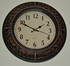 Antique Wall Clock Quartz Crown Scroll Traditional Home 30.5 cm Ideal For Gift