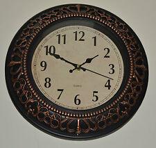 Reloj De Pared Antiguo Pergamino Corona De Cuarzo Casa tradicional de 30.5 Cm Ideal Para Regalo