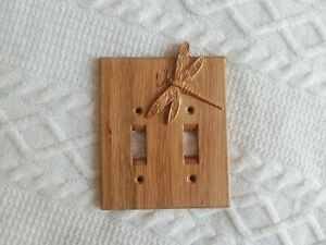 Dragonfly Light Switch Cover - Oak, Free Shipping