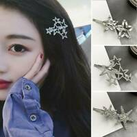 Elegant Crystal Star Hair Clip Barrette Stick Hairpin Hair Accessories For Woman