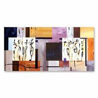 SPIRIT GOCKEL Quadro stampa tela 90x45 cm arredo soggiorno salotto etnico