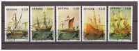 Guyana, (Segel-)Schiffe MiNr. 3292 - 3296, 1990 used