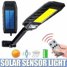 180COB LED Solar Street Light Radar PIR Motion Sensor IP65 Wall Lamp w Remote