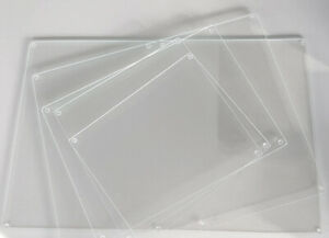Ultra Clear Glass Worktop Savers in various sizes.(low iron glass for clarity)