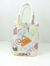 "Ceramic Pocketbook Purse Piggy Bank Teenage Girl 9"" Height"