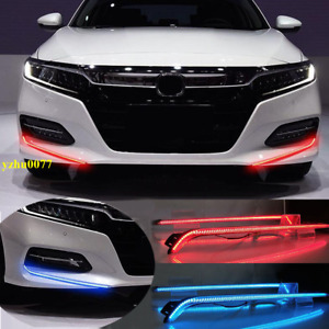 2018-2020 Fit For Honda Accord LED Front Bumper DRL Daytime Running Light 2pcs