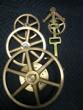 SETH THOMAS STREET OR TOWER CLOCK GEAR TRAIN WITH ESCAPEMENT