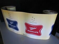 NEW 50' Miller Lite High Life Decorative Banner Roll Beer Light Party Bar Sign