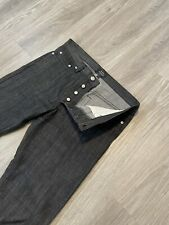 APC New Standard Jean Classique Pants Sz 36 Raw Denim Button Fly Indigo Blue