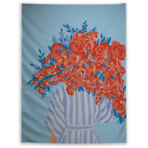 Abstract Portrait Trippy Tapestry Wall Art Poster Hanging Sofa Table Cover