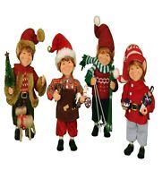 Elf Figurine Set of 4 Elves Christmas Decor