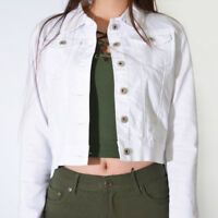 WAKEE WOMEN'S WHITE DENIM JACKET.