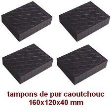 4 X tampons de pur caoutchouc 160x120x40 mm. pour Pont elevateur - bloc - Italie